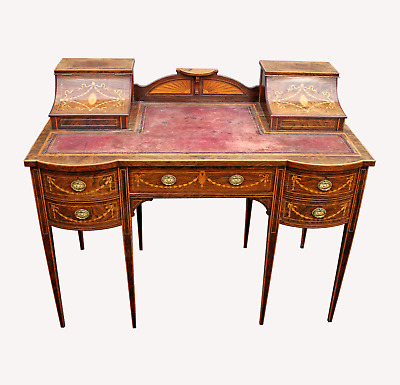 £2750 • Buy A Lovely English Rosewood & Satinwood Marquetry Inlaid Writing Desk