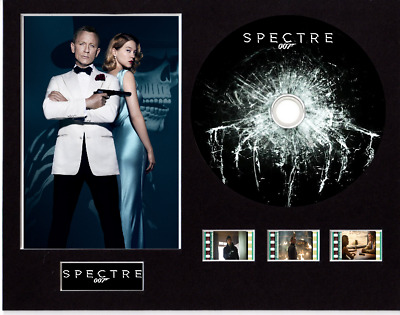 James Bond Spectre 007 Film Cells 10x8 Mounted With CD & 3 Cells • 25.49£