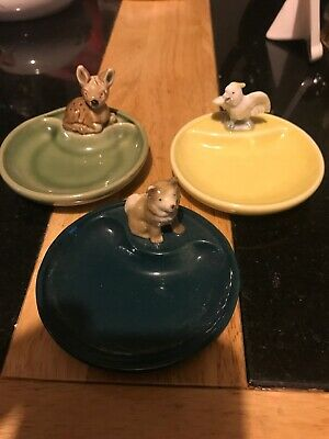 3 Wade Whimtrays Deer Dog And Parrot  • 22.99£