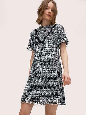 AU144.15 • Buy 2019 NEW AUTH Kate Spade New York Bicolor Scallop Tweed Dress $398