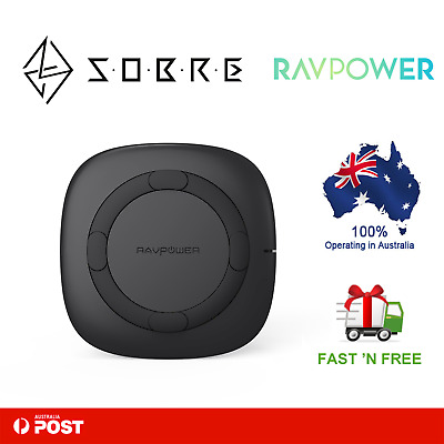 AU39.95 • Buy RAVPower 5W Wireless Charger Qi Certified Fast Charging Pad Samsung IPhone NEW