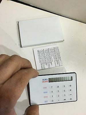 Vintage Credit Card Size Calculator All Working 10 Digit • 7.99£