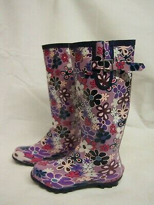 Lunar Long Strap Flower Pattern Wellies • 14.95£