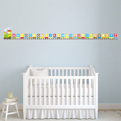 Alphabet Train ABC Childrens Wall Sticker WS-47149 • 26.99£