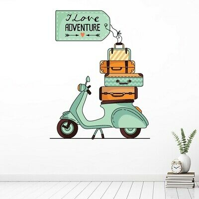 £14.99 • Buy Travel Scooter Love Adventure Wall Sticker WS-47211