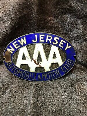$ CDN156.09 • Buy Vintage Automobile&Motor Club Of New Jersey AAA. Porcelain License Plate Topper!