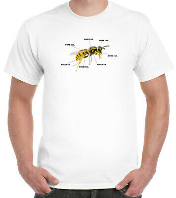 £11.99 • Buy The Wasp - Pure Evil T-Shirt Funny Insect Summer