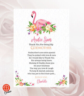 £3.25 • Buy Thank You For Being My Godparents, Godmother, Godfather, Christening Card Gift