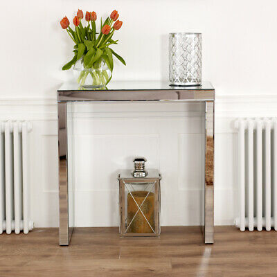 £189 • Buy Venetian Mirrored Compact Console Table - Small Hall Side Glass Dressing - VEN38