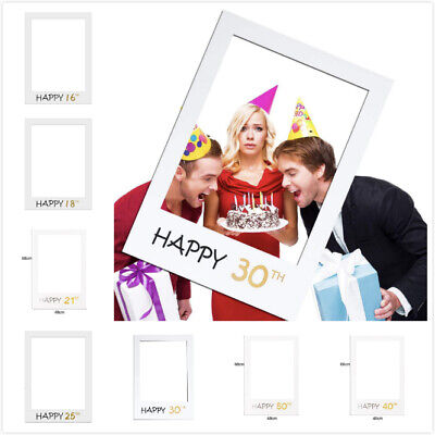 £3.95 • Buy Happy 16/18/21/25/30/40/50 Birthday Frame Photo Booth Props Photo Picture Frame