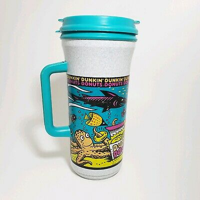 06578a5de3d Vintage Dunkin Donuts Travel Mug Big Logo Thermo Whirley • 8.95$
