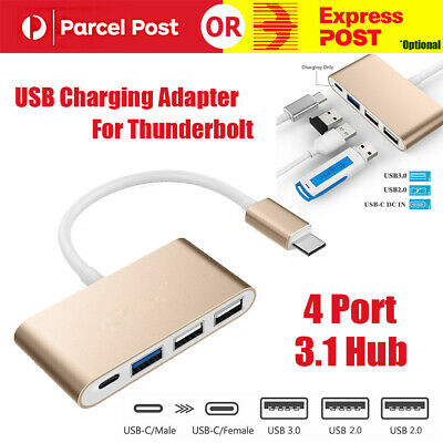 AU16.75 • Buy Type C USB-C 3.1 To 4-Port Hub USB 3.0 2.0 Charging Adapter For Thunderbolt AU