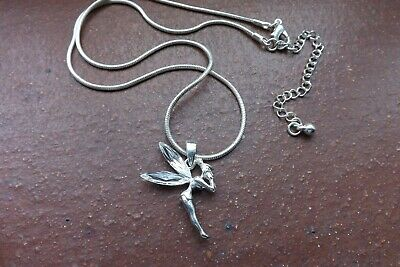 Beautiful Tinkerbell Necklace With White Stone Wings Detail • 5£