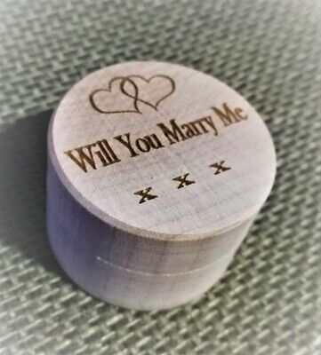 Wooden Ring Box Gift Box 'Will You Marry Me' - Personalisation Available  • 7.95£