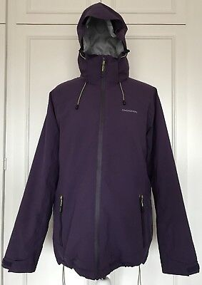 Womens Craghoppers Aquadry Stretch Warm Technical Purple Jacket Size 14 • 32.95£