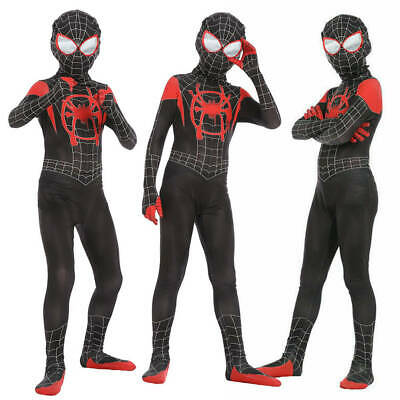 View Details Spider-Man Into The Spider-Verse Kids Costume Miles Morales Cosplay Zentai Suit • 24.99$ CDN