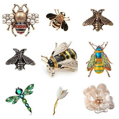 Brooch Bee Bird Animal Flower Insect Lapel Pin Broach Vintage Bridal+Gift Bag UK • 3.99£
