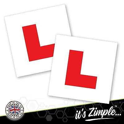 2 X LEARNER STICKER L Plate Stickers Legal Learner Driver Sticker Self Adhesive • 1.79£
