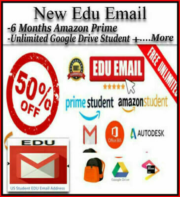 $1.95 • Buy FAST DELIVERY NEW Edu E-mail ✅6 Free Months Amazon Prime+✅Unlimited Google Drive