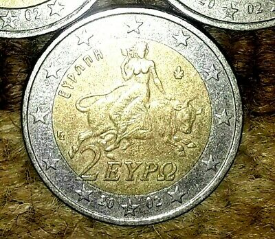 $ CDN237.28 • Buy 2 Euro RARE Coin 2002 /  S  On The Star / Part Of  2  Is Outside Center Ring
