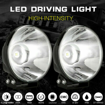 AU77.98 • Buy PAIR 7 Inch LED SPOT Driving Lights New Replace HID Xenon Spotlights Slimline4x4