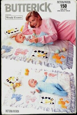 $9.99 • Buy UNC Wendy Everett Activity Quilt Soft Book Butterick 150 Pattern Baby Learning