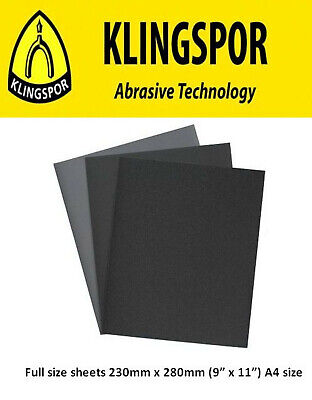 Wet And Dry Sandpaper Sanding Paper P60 - P2500 Grit Klingspor Mixed You Choose • 2.99£