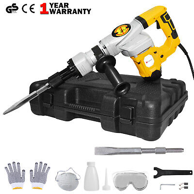 View Details 1300W Electric Demolition Jack Hammer Concrete Drill Breaker Kit Jackhammer • 57.99£