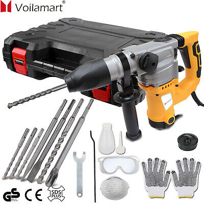 View Details 2000W Electric Hammer Drill Demolition Rotary Chuck SDS Plus Bit Set 2 Chisels • 70.99£