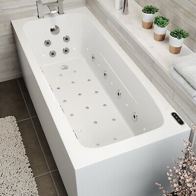 £2089.94 • Buy 1700x700 Whirlpool Bath Single Ended Square 46 Jets LED's Inline Heater Ozonator