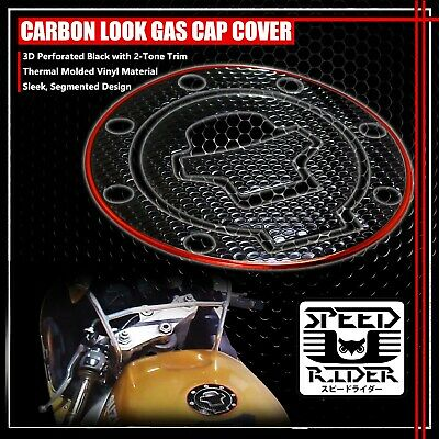 $15.95 • Buy 97-03 Gsxr-600/750/1000 Gas Cap Fuel Lid Cover Protector Pad Black/chrome Red