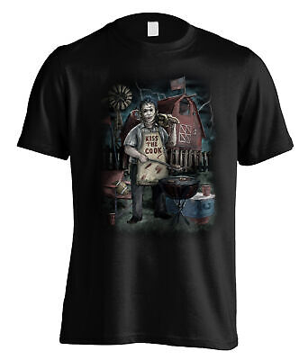 £13.99 • Buy Texas Chainsaw Massacre Leatherface Barbecue Official Tee T-Shirt Mens Unisex