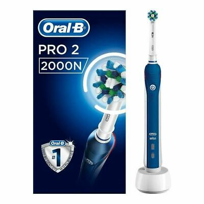 View Details Oral-B Pro 2 2000N CrossAction Electric Rechargeable Toothbrush • 35.99£