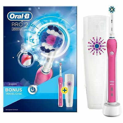 View Details Oral-B Pro 2 2500 3D White Electric Rechargeable Toothbrush Pink • 30.00£