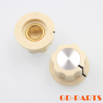 $ CDN11.15 • Buy Cream 1/4  Skirt Pointer Knob Guitar Effect Pedal Instrument Control 20x12mm*10