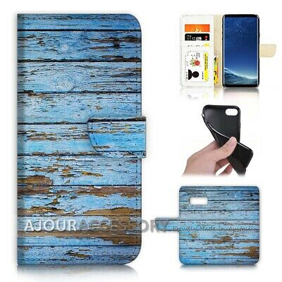 AU12.99 • Buy ( For Samsung S8 Plus / S8+ ) Flip Case Cover AJ21383 Old Timber Wood