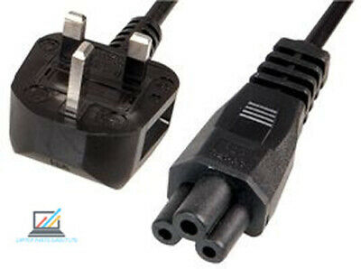 Laptop Power Cable Clover Leaf Lead Fused Wire Cord 3 Pin Mains UK Plug C5 1.8M • 3.99£