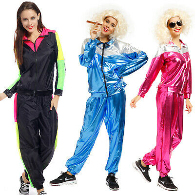 Retro 80s Mens Womens Scouser Tracksuit Shellsuit Shell Suit Costume Fancy Dress • 14.99£
