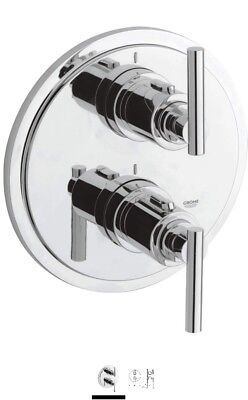 GROHE 19399000 Atrio Thermostatic Shower Mixer With Diverter . • 75£