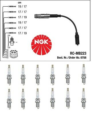 $219.87 • Buy Mercedes W203 W210 W211 W163 W220  M112  Ignition Set: Cable + Spark Plugs NGK