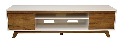 AU259 • Buy TV Stand Entertainment Unit 1800MM Cabinet Plasma LCD LED White And Oak