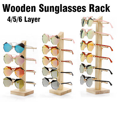 AU26.57 • Buy 4/5/6 Layers Wooden Sunglasses Rack Eye Glasses Display Stand Holder Organizer