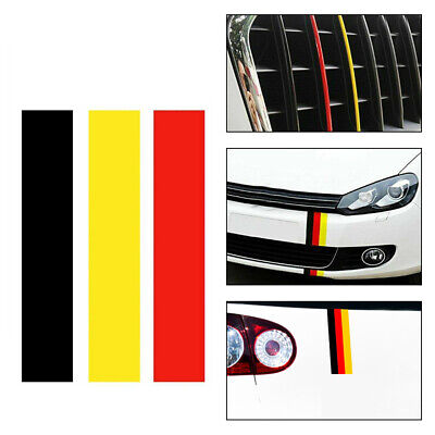 New Car Accessories DIY GERMAN GERMANY FLAG Sticker Decal For VW/BMW/Volkswagen • 0.99£