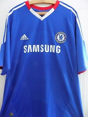 Chelsea FC Football Shirt Home 2010 2011 Adidas Mens Soccer Jersey Adults Top • 42.99£
