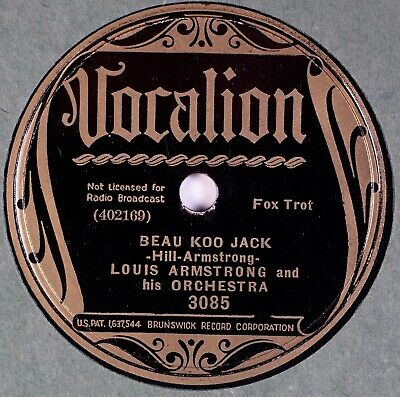 LOUIS ARMSTRONG: Beau Koo Jack / No One Else VOCALION 3085 Jazz 78 E- • 50$