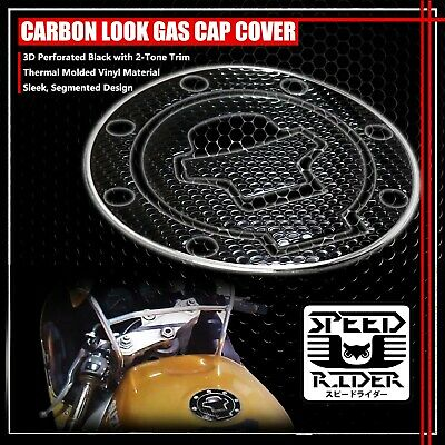 $15.95 • Buy 97-03 Gsxr-600/750/1000 Gas Cap Fuel Lid Cover Protector Pad Black/chrome Silver