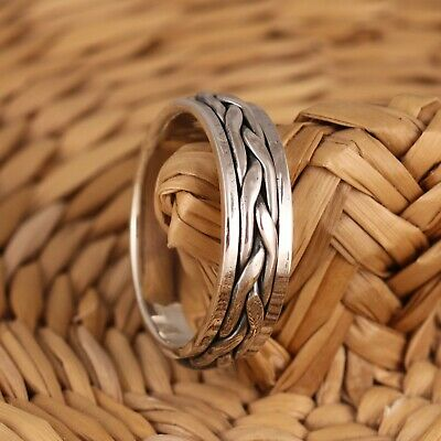 925 Sterling Silver Celtic Spinning Band/Thumb Ring 7mm Wide Mens/Womens • 19.98£
