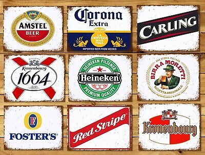 £4.99 • Buy Metal Signs Plaques Vintage Retro Style Beer Bar Pub Mancave Home Wall Decor