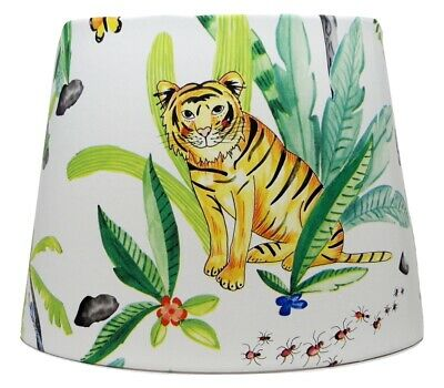 Jungle Animals Lampshade Light Shade Kids Bedroom Nursery Accessories Gifts • 26.99£