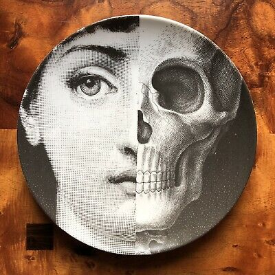 $250 • Buy Fornasetti Plate 288 Themes And Variations - Woman And Skullface
